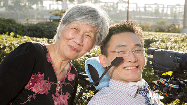 Paul Chiou and his grandmother.
