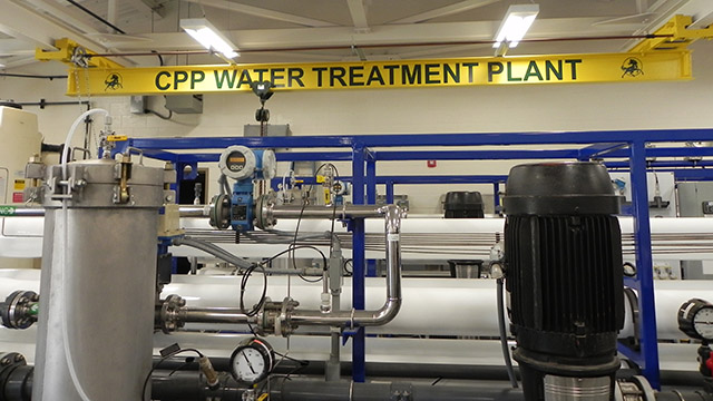 Cal Poly Pomona's reverse-osmosis water treatment plant, which opened in 2015, can produce 20,000 gallons of drinking water per hour.