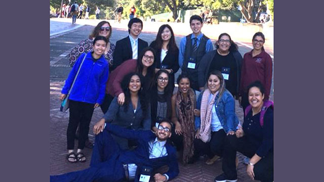 McNair Scholars attend the 25th Annual McNair Symposium at University of California, Berkeley, where they presented their research. July 2017.