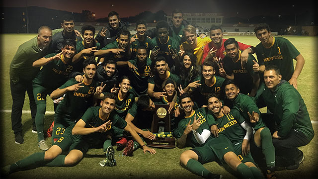 The Cal Poly Pomona men's soccer team.