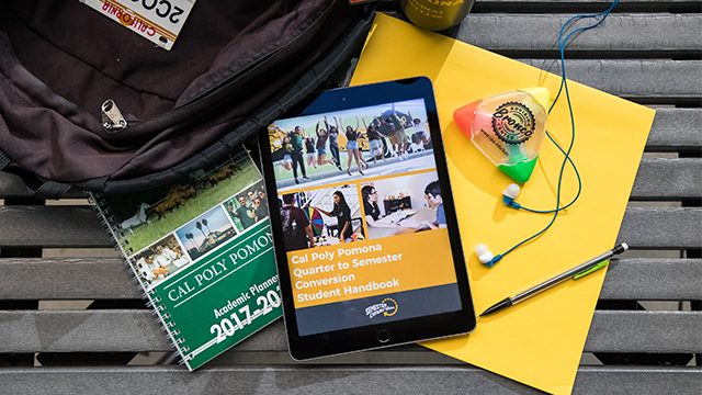 Notebook, iPad, Cal Poly Pomona Guidebook
