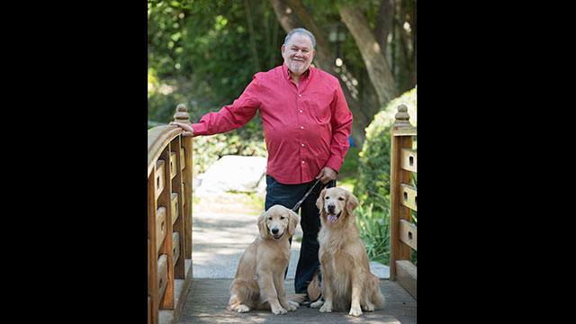 Caption: Professor Aubrey Fine, an expert on human-animal interaction and animal assisted therapy, recently co-edited a new book on the topic.
