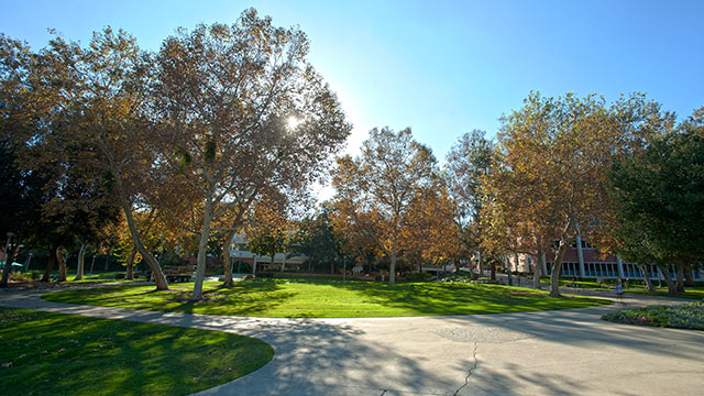 The University Quad at Cal Poly Pomona.