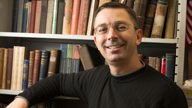 English Professor Liam Corley will use a $50,000 grant to develop his research on veteran characters in American literature into a book-length study.
