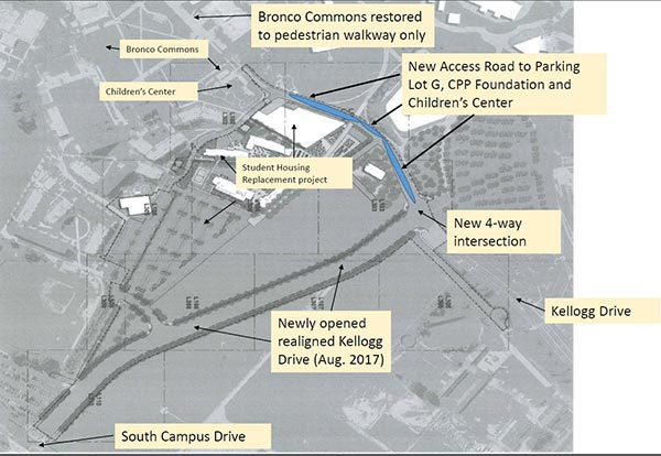 A map of the new access road.