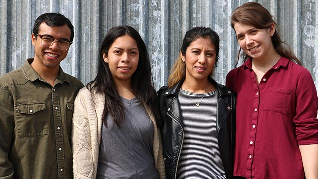 Pictured from left to right: Jonathan Mayorga, Viridiana Navarro, Gabriela Ramirez, and Ashley Garcia.