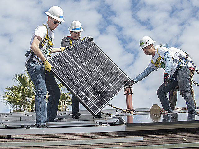 Spring Break Solar Panel Installation