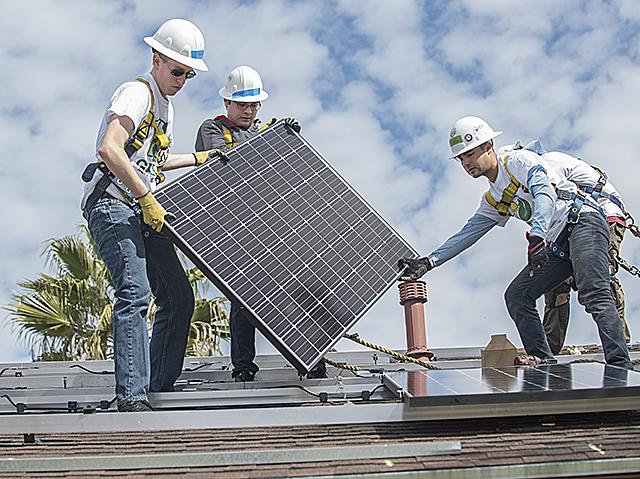 Spring Break Solar Panel Installation