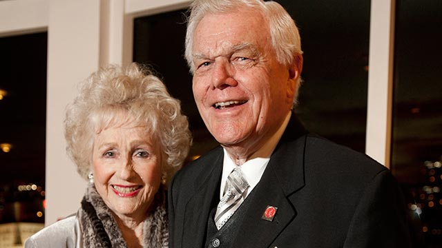 Carol and Jim Collins have been long-time benefactors and instrumental in the growth of The Collins College of Hospitality Management.