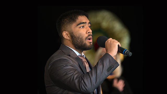 Xavier Montalbo was one of four Cal Poly Pomona students majoring in voice to win an award at the recent National Association of Teachers of Singing Los Angeles chapter's annual Auditions Collegiate Division competition.