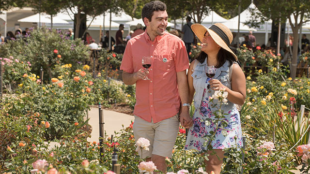 About 50 restaurants, wineries and breweries gathered in the Cal Poly Pomona Rose Garden for one of the premiere spring celebrations to support higher education.
