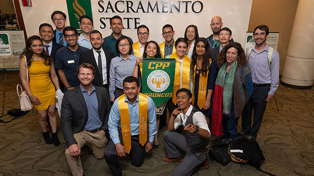Cal Poly Pomona Student Delegates and Faculty/Staff Representatives for CSU System-Wide Student Research Competition at CSU Sacramento.