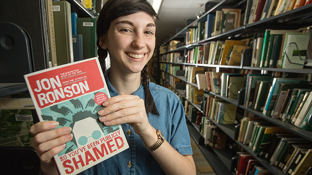 Kimberly Gottula, a second-year industrial engineering student, submitted So You've Been Publicly Shamed in a campus-wide call for the 2018-19 Common Read selection.