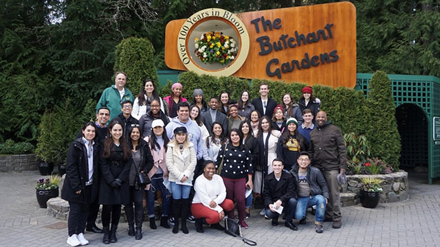 "Students who took Political Science Professor Reese's ""NGOs and Social Service Outreach"" course in the winter quarter traveled to Vancouver and Victoria, British Columbia over spring break to meet with Canadian NGOs and see the sites."