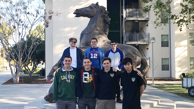 The Heroes of the Dorm Pomona Ponies team.