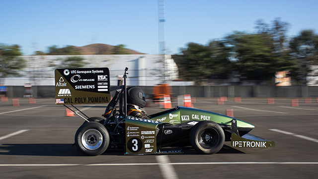 The 2018 Bronco Motorsports Formula SAE car