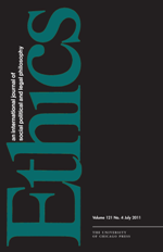 "The prestigious international journal ""Ethics."""
