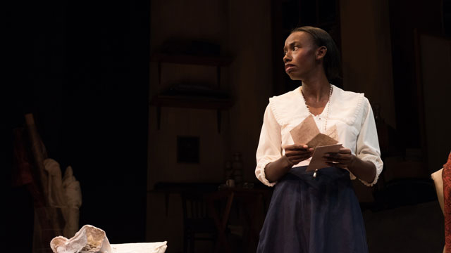 "Graduating theatre student Mary Hill performs in a university production of ""Intimate Apparel."""
