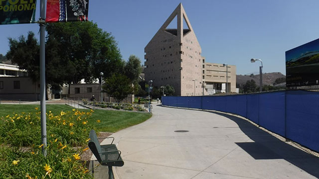 Portions of the walkway stretching from the University Library to the CLA Building will be torn up and replaced to establish a new pedestrian zone.