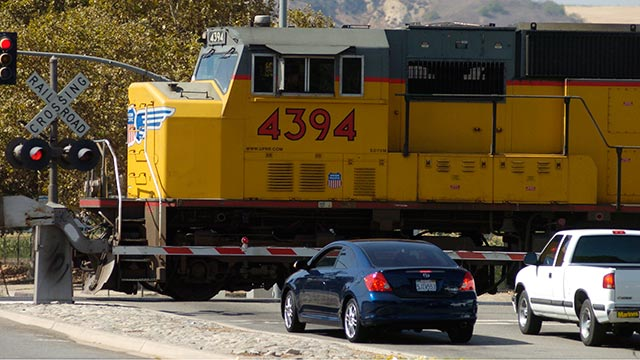 The new freight train diversion will relieve traffic, blocked crossings and train horn noise at one of Pomona's busiest streets and a major campus thoroughfare.