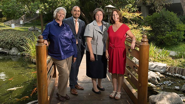 Mary Martinez, John Gungon, Janet Cain and Sandra Bufalini were awarded the CSU All-star Award.