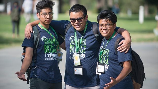Students from the summer bridge program.