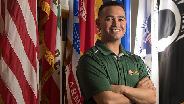 Fabricio Monterroso has been named Veteran of the Year for the City of Pomona.