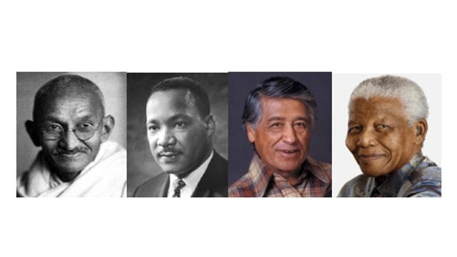 The lives and movements of Mohandas K. Gandhi, Martin Luther King, Jr., Cesar Chavez and Nelson Mandela will be explored during the conference.