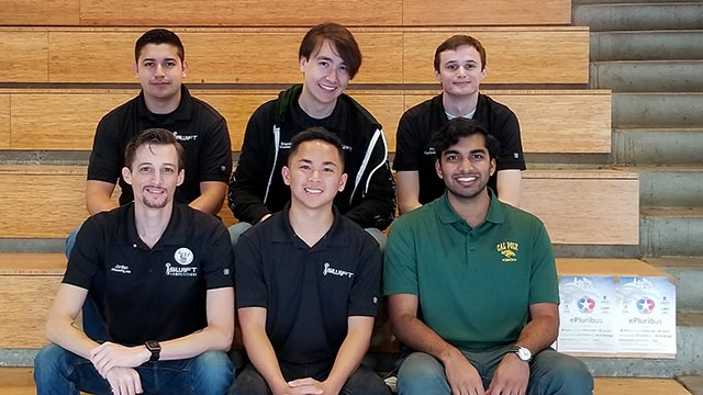 Members of the Cal Poly Pomona cybersecurity team.