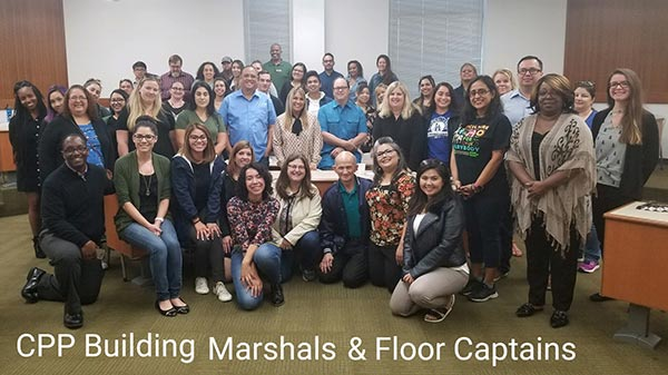 Cal Poly Pomona building marshals and floor captains.