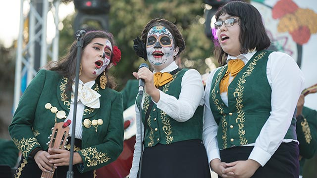 CPP's Mariachi Los Broncos performed at the Day of the Dead Celebration.