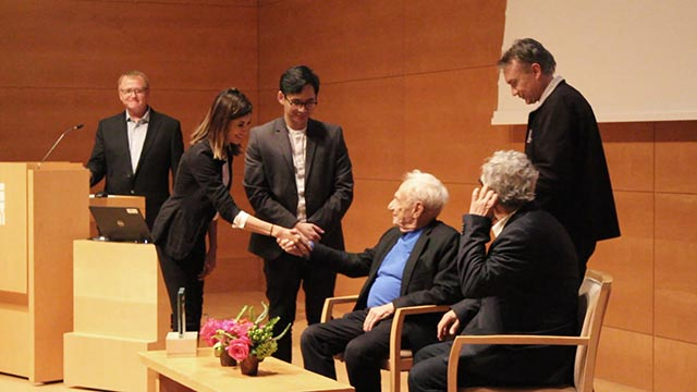 The architecture department honored world-renowned architect Frank Gehry with the Richard Neutra Award for Professional Excellence.