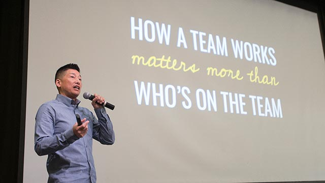 Matt Sakaguchi from Google speaks on Google's Quest to Build the Perfect Team at the Our Campus, Your Future Summit.