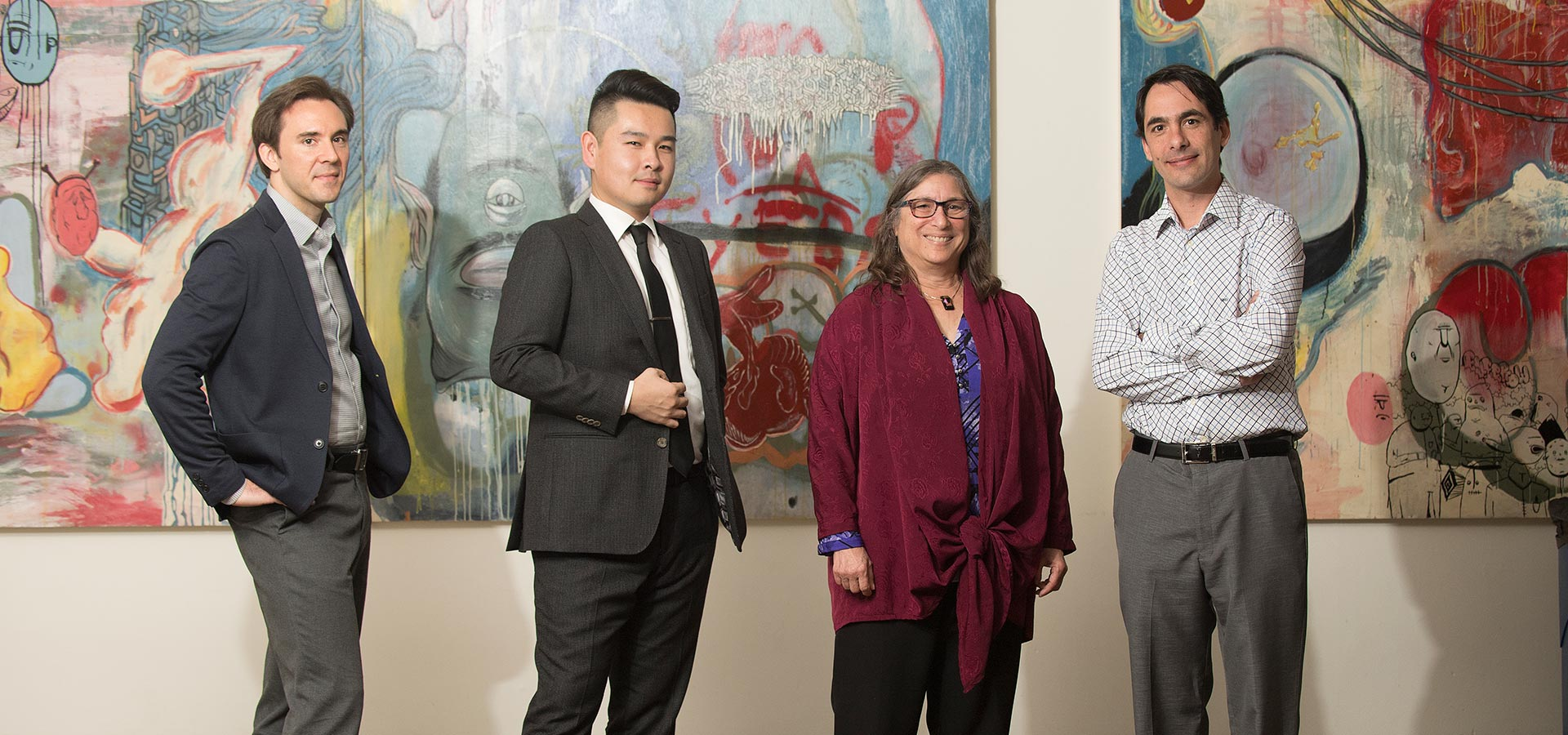 Faculty members Vernon Snyder, Jason Zhang, Jodye Selco and Gabriel Davidov-Pardo recently received an eLearning Wall of Cool award.