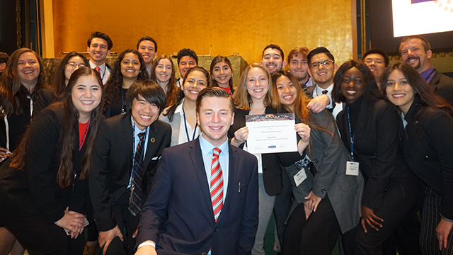 The Cal Poly Pomona Model UN 2019 team.