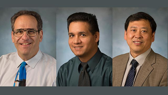 Pictured from left to right: Donald Edberg, Steve Alas, and Xudong Jia.