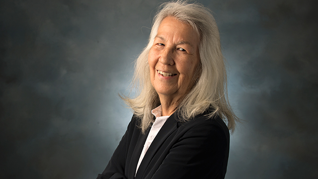 Elizabeth Zangenberg is a non-traditional student, obtaining her bachelor's degree in 2018 in Art History with a minor in Native American Studies while in her early 60s.