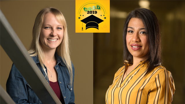 Graduating CEIS seniors Dulce Anahi Alvaro and Ashley Bressel have been named Julian McPhee Scholars for 2019.