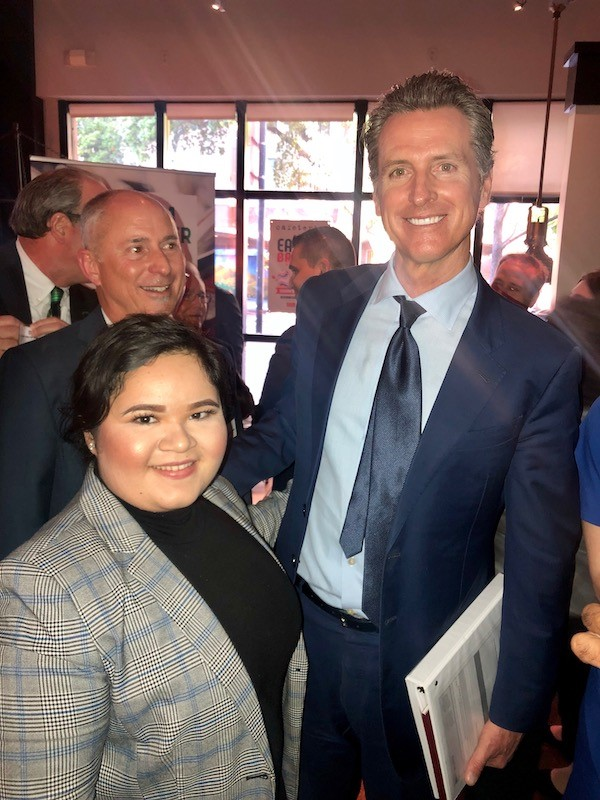 Ibarra listed meeting Gov. Gavin Newsom among her most memorable experiences.