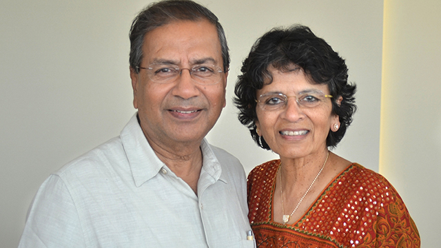 Bipin Shah (left) and his wife Rekha donated $51,000 toward a new minor in plant-based food and nutrition at Cal Poly Pomona.