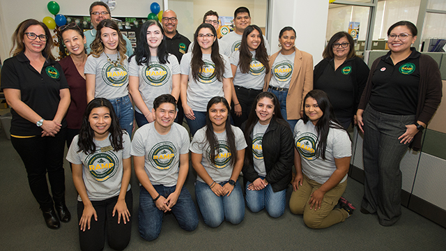 RAMP staff and students pose for a group photo at its recent 30-year anniversary celebration.