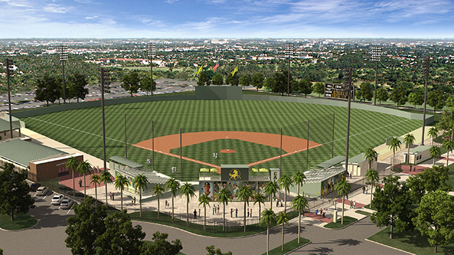 Scolinos Field will receive improvements that include a new natural grass playing surface and artificial turf behind home plate that will contain the Bronco athletics logo.