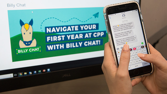 Billy Chat, a text messaging robot that fields questions from students, is one of several ways the university is tapping into technology to help ensure student success.