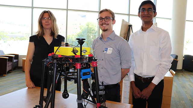 Engineering Students and research mentor present their project at the 2019 Creative Activities and Research Symposium (CARS).
