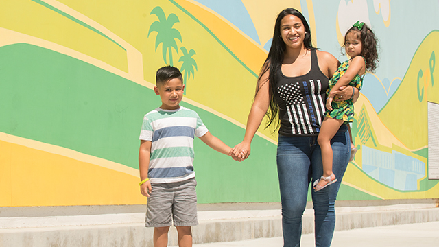 Amy Murillo, an incoming transfer student, balances being a mother of two with her studies.