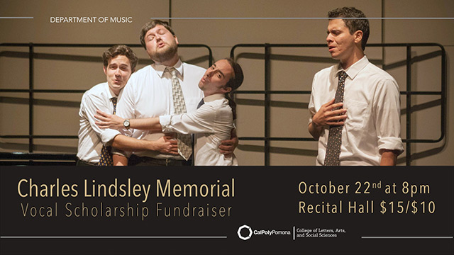 Music Department Fall Lineup Includes Concert Fundraisers and Master Classes
