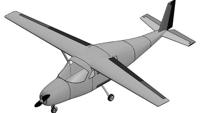 Rendering of winning aircraft