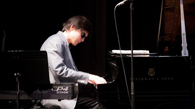 Jeffrey Sweede playing piano