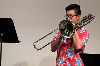 Bass trombonist Kevin Truong