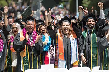 Graduates celebrating.